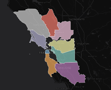 Map of Economic Security In The Bay Area