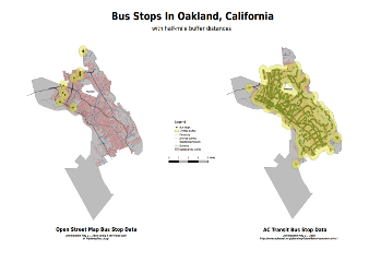 Map of Oakland Bus Stops